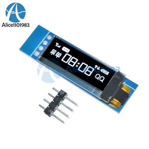 "IIC I2C 0.91/"" 128x32 white OLED LCD Display Module 3.3v 5v For Arduino LE"