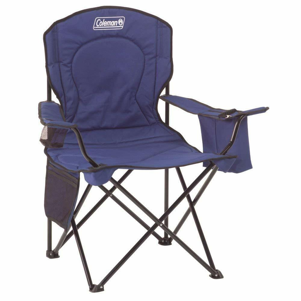Coleman Portable Steel Outdoor Camping Picnic Fishing Beach Chair  4 Can Cooler  best quality best price
