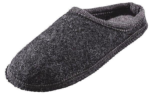 Herren Hausschuhe Pantoffel grau Gre 41 45 46 Wolle waschbar warm Beck 761