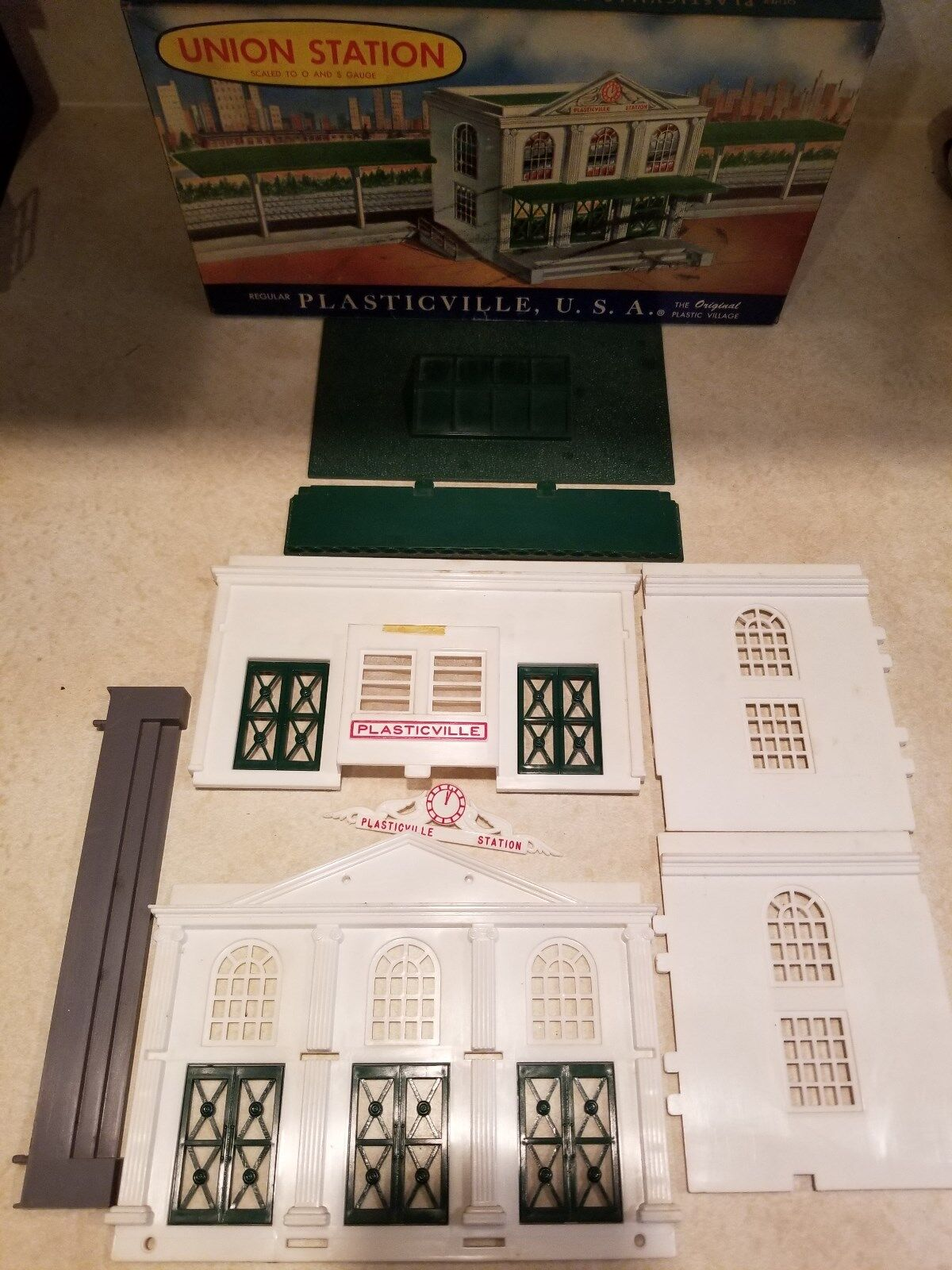 Plasticville USA 1901 Union Station Kit (JS)