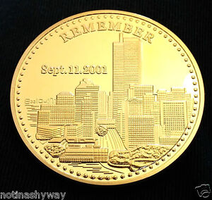 911 Coin Gold Twin Towers Man New York City United States Statue of Liberty USA - <span itemprop=availableAtOrFrom>Look at my other Items, United Kingdom</span> - Returns accepted - Look at my other Items, United Kingdom
