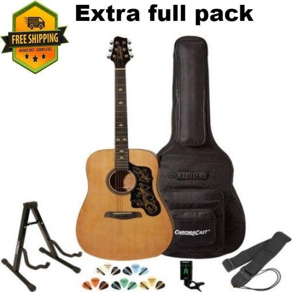 Sawtooth Acoustic Guitar With Custom Pickguard Shape Includes