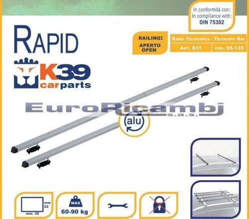 BARRE TELESCOPICHE K39 RAPID CORRIMANO ALTO MERCEDES GLK X204 08/>12