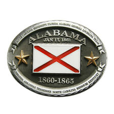 New Vintage Oval Alabama Flag Belt Buckle Gurtelschnalle Boucle de ceinture
