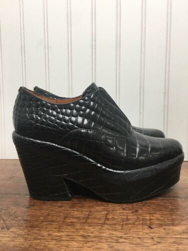 & other stories Chunky Platform Leather Crocodile