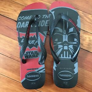 ee77ee190 New! Havaianas x Star Wars Flip Flops Slippers Darth Vader Men s ...
