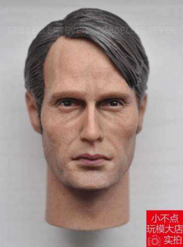 """Free Shipping 1//6 scale Hannibal Mads Mikkelsen Galen Erso head sculpt fit 12/"""""""