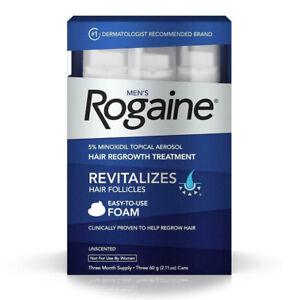 ROGAINE  FOAM MINOXIDIL 5% 3 MESI  Anticaduta Ricrescita Capelli Uomo Originale