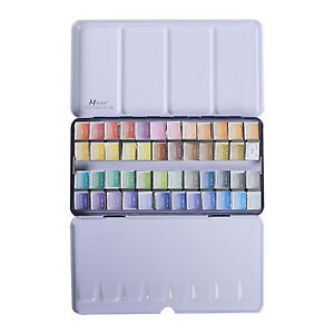 MEEDEN-Art-Watercolor-Tin-Palette-Paint-Set-with-24-48-Colors-Paints-NEW