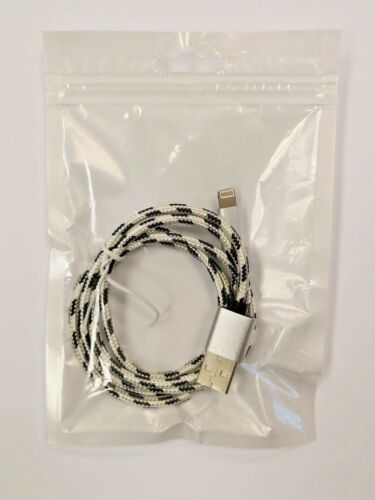 Heavy-Duty Braided Nylon Cord iphone Lightning Cable for Apple ipad 3.3ft
