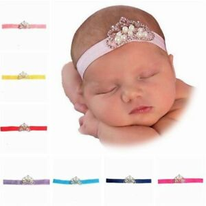 Pearls-Elastic-Crown-Princess-Headbands-Hair-Accessories-Headwear-Hairband