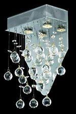 Elegant Galaxy 2 Light/Lamp Crystal balls Wall Sconce Dining Living Room Chrome