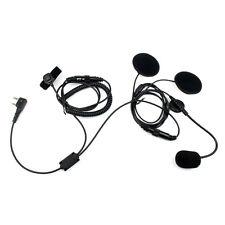 2-Pin dedo PTT casco motocicleta micrófono auricular para Kenwood BAOFENG WOUXUN
