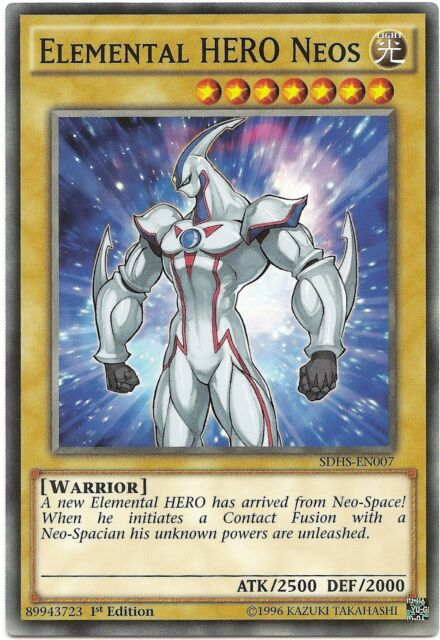 Elemental HERO Neos SDHS-EN007 Common Yu-Gi-Oh Card 1st Edition New
