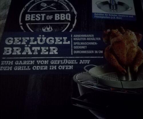 Best of BBQ Geflügel Bräter  für Grill oder Ofen * Neu !