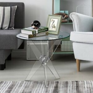 ... Clear Acrylic 3 Leg Side Table Modern Furniture