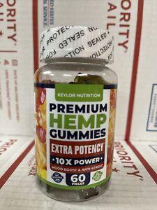 Premium Hèmp Gummies 10X Power 60 Sweets Anti-Stress Mood Boost Exp 11/2022
