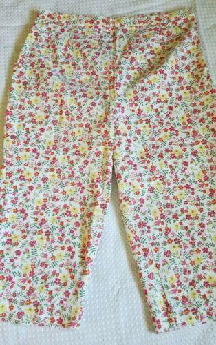 Vintage Capris Pete Billblass Jeans Floral 14p Sid