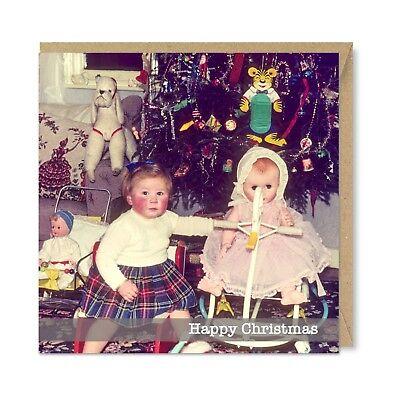 Vintage Retro Happy Anniversary Card Cute Romantic Nostalgic 1950s by Honovi