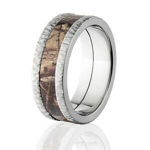 Realtree Snow Camo Wedding Rings