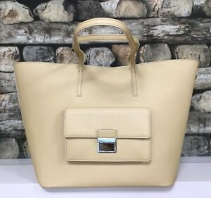 BIMBA-Y-LOLA-Damen-Tasche-Handasche-Handbag-Shopper-Bag-Gelb-Leder-Leather-NEU