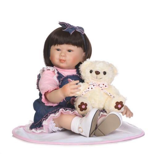 Shoes+Panda 22/'/' Lifelike Baby Silicone Vinyl Reborn Newborn Girl Doll Clothes
