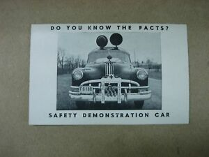 RARE-1950-039-S-AUTOMOBILE-SAFETY-FACTS-BRAKING-CHART-PAMPHLET-FARM-BUREAU-AUTO-INS
