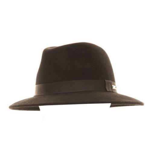 Vintage Style Black Felt Fedora Hat Wide Brim Trilby 56cm 57cm 58cm S//M//L 100/% W