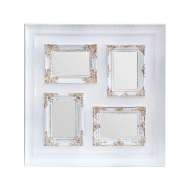 Premier Housewares 53x53cm 4 Photo Vintage Style Multi Frame White ...