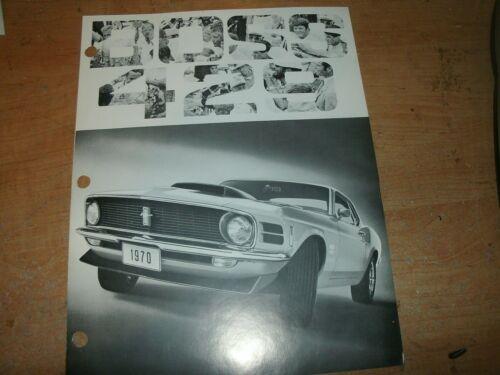 Car Manuals & Literature Vehicle Parts & Accessories 1970 FORD ...