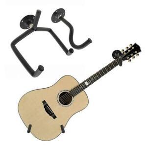Black Acoustic Guitar Hanger Hook Horizontal Guitar Wall Mount Holder Bracket