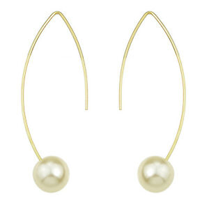 Image Is Loading Fashion Costume Jewellery Gold White Pearl Bridal Drop