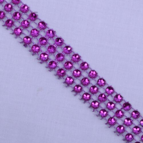 3 row faux diamond diamante ribbon trim wedding cake decoration bling 15mm