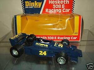 Dinky Toys Modèle No.222 Mib de voiture de course    Hesketh  308e