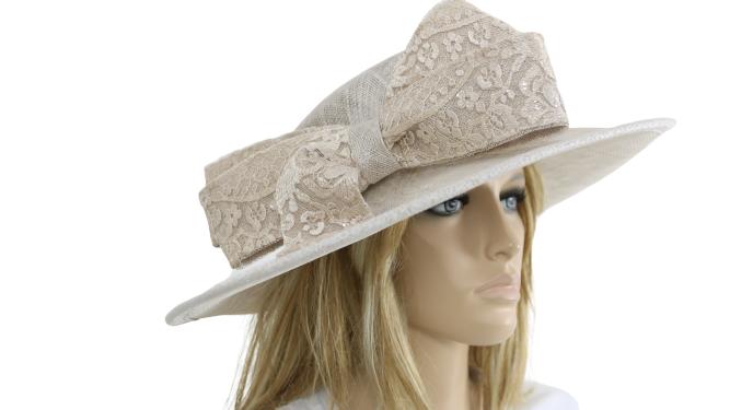 John Charles London 26729 Pale Mink Mother Of the Bride Wedding Formal Hat
