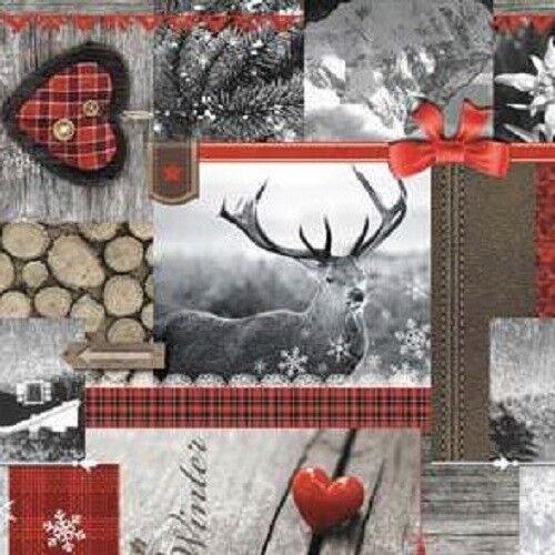 Wachstuch Tischdecke Meterware Weihnachten Winter Skandinavien 192-1