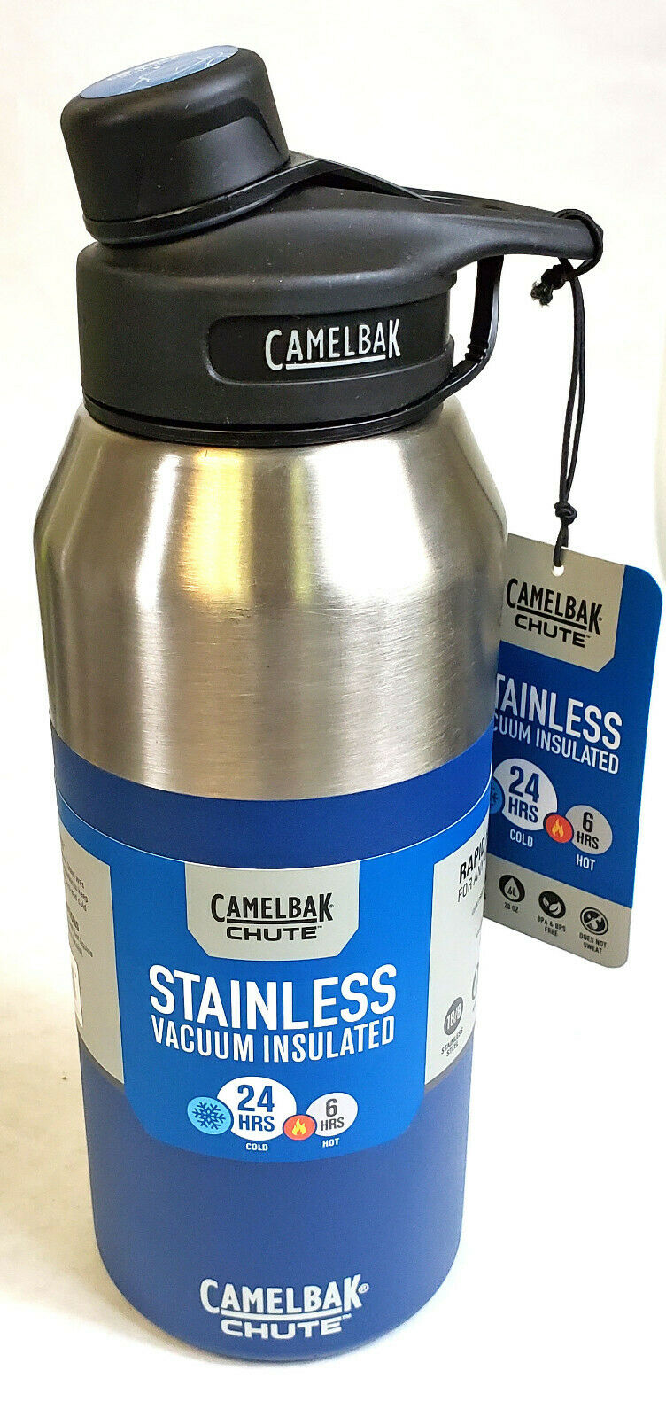 NEW CamelBak Chute Vacuum Insulated Stainless Water Bottle 40 oz blueE