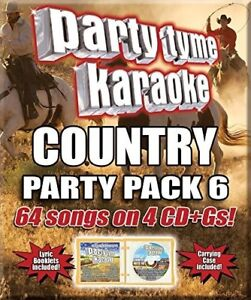 Various-Artists-Party-Tyme-Karaoke-Country-Party-Pack-6-New-CD-Boxed-Set