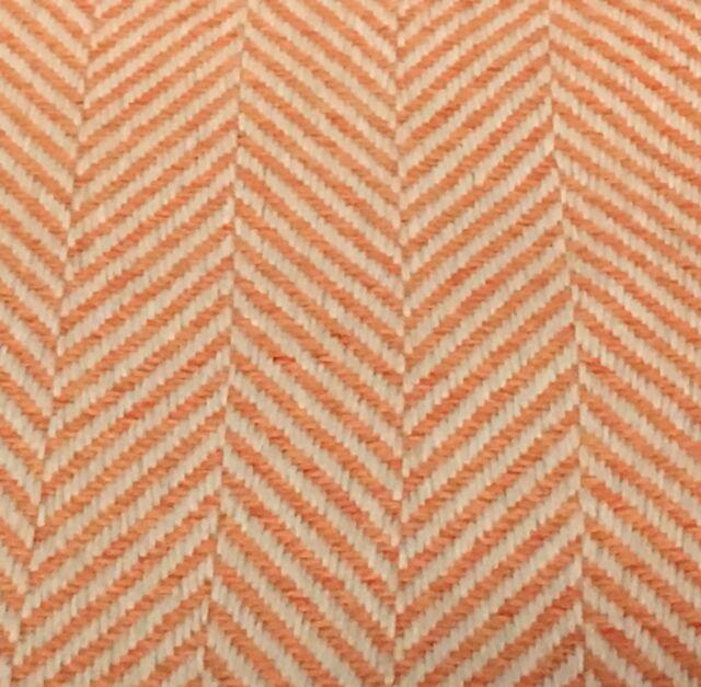 Kravet Outdoor Orange Herringbone Chevron Upholstery Fabric As Tangelo 10 Yd