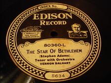 EDISON 80360 VERNON DALHART The Star Of Bethlehem Scarce Paper Labl Christmas N-