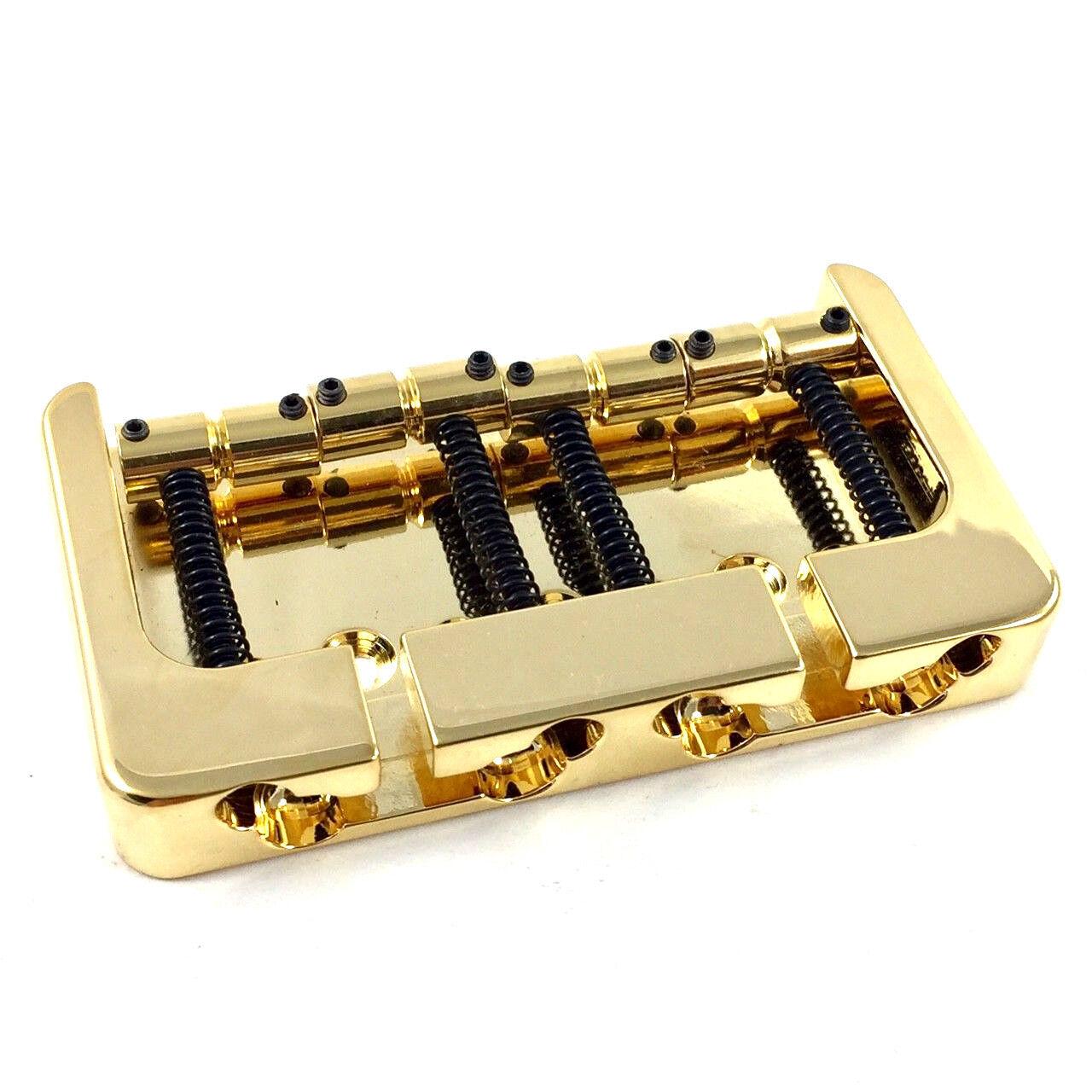Hipshot Gold Brass B Series Bass Bridge String Thru Fender P Jazz® 5B400G-FM2