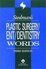 Stedman's Plastic Surgery/Ent/Dentistry Words (Stedman's Word Book) Maj, Erna L