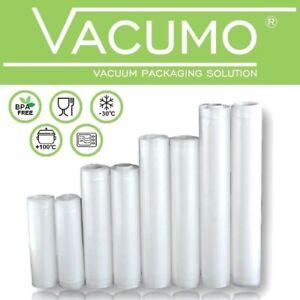 VACUMO Vakuumbeutel Rollen Vakuumrolle Vakuumfolie goffriert Vakuumierer