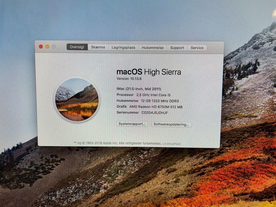 """iMac, 21,5"""" medio 2011, Intel i5 2,5 GHz"""
