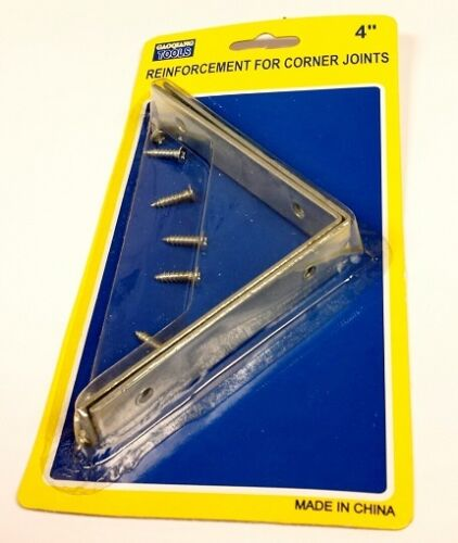 """Corner Braces Steel Mending Plates Right Angle Interior Exterior 1.5/"""" 3/"""" or 4/"""""""