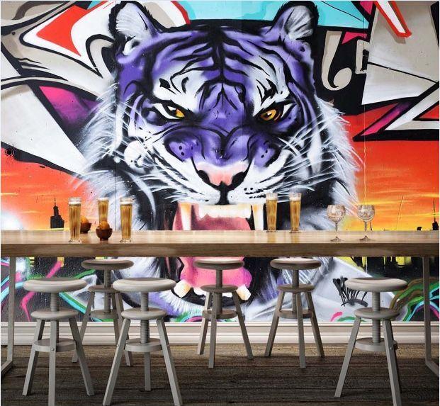 3D Blaue wilde Tiger 1324 Fototapeten Wandbild Fototapete BildTapete FamilieDE