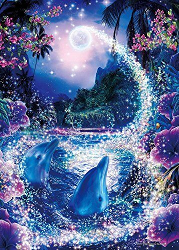 Jigsaw Puzzle LASSEN Glowing Puzzle  Mystic World 50 From japan