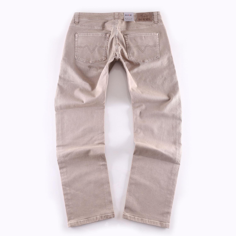Big Seven OPACA MarroneeE Regular Straight Jeans Uomo Pantaloni Pantaloni Pantaloni di dimensioni overDimensione XXL e8303a
