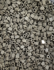 Neu Hellgrau Steine 1x1 mit Halter 500 x LEGO® Brick Handle LBG 2921