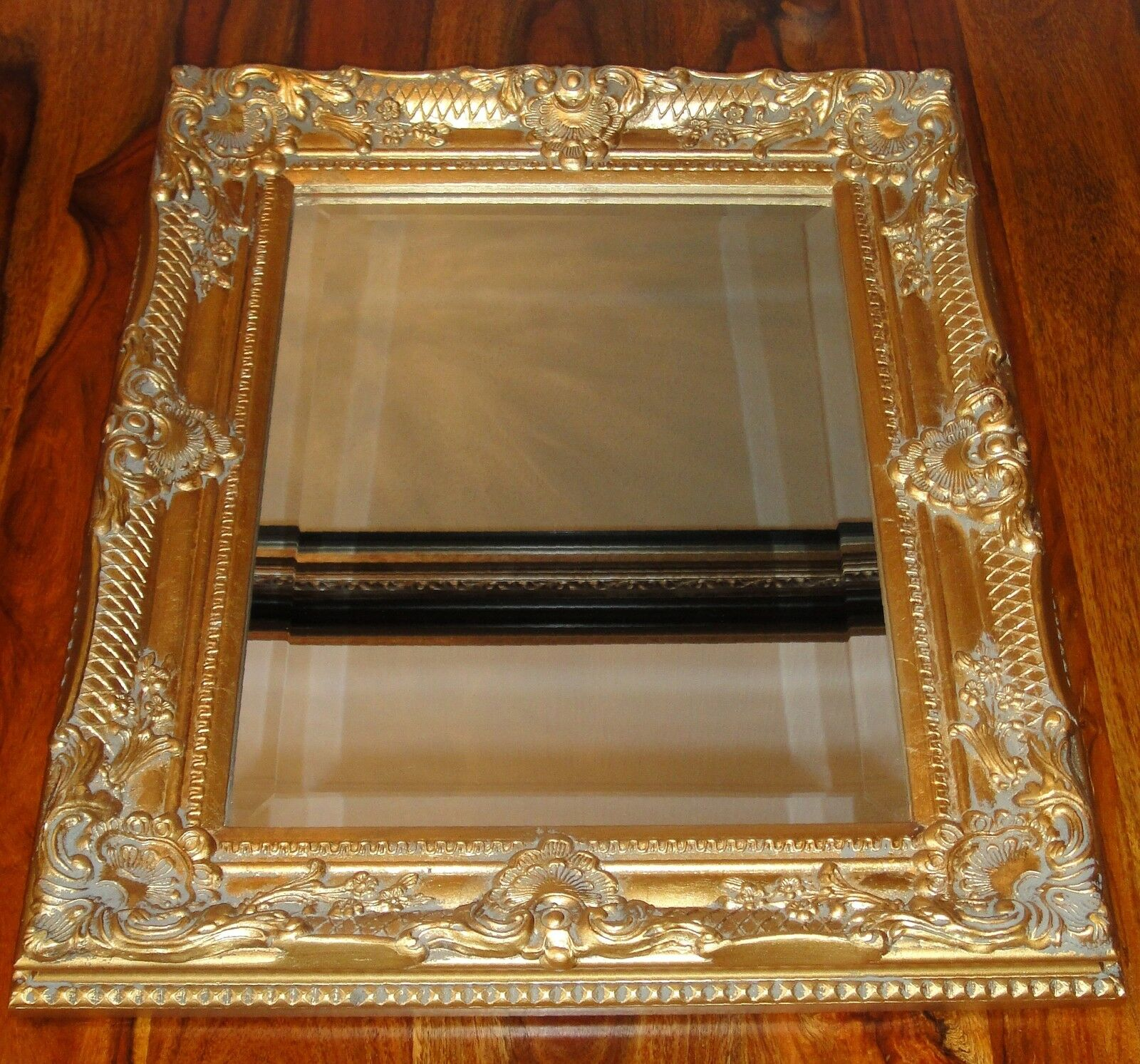 Rahmenspiegel Fiona 40 x 140cm Gold Designspiegel Wandspiegel Goldrahmen Deko
